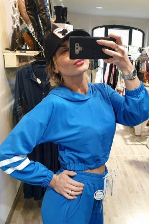 Completo SPORTY CROP blu