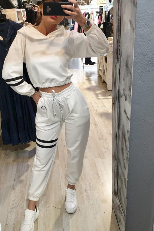 Completo SPORTY CROP bianco