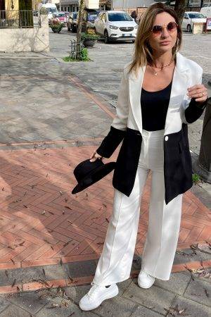 Giacca oversize BLACK & WHITE
