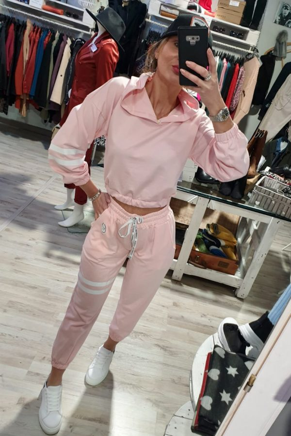 Completo SPORTY CROP rosa